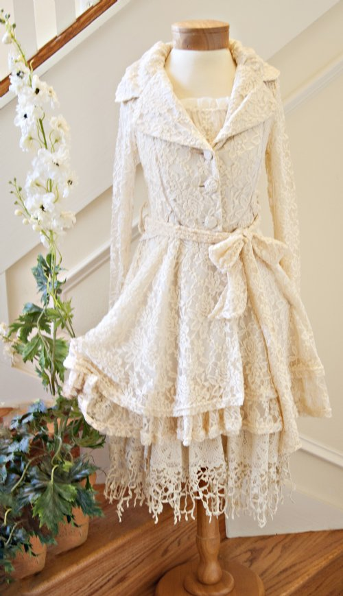 Stunning women 39 s shabby chic lace fall from - Shabby chic outfit ideas ...