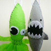 Funny Ornaments - Sea Monster Set