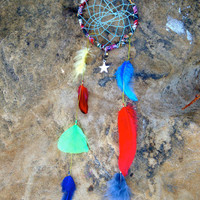 Handwoven Feathered Dream Catcher