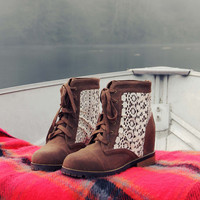 Misty Lake Lace Boots