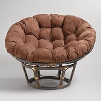Java Microsuede Papasan Chair Cushion | World Market