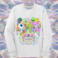 UNISEX Reblog 90s Kawaii Seapunk Tumblr Sweatshirt // Pastel Grunge // Sailor Moon x Zelda // fASHLIN
