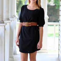 One Fine Day Tunic Dress - Black | Hazel & Olive
