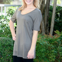 Pocket Tunic - Taupe | Hazel & Olive