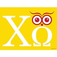 Chi Omega Owl'Mega Print - Greek Prints - Wall