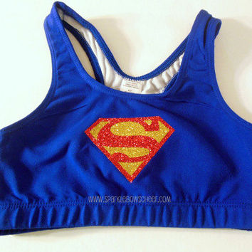 Super Steel Cotton Sports Bra Cheerleading by SparkleBowsCheer