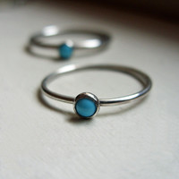 Tiniest Turquoise Stone Stacking Ring