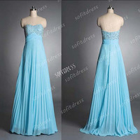 blue prom dresses, sweet heart prom dress, affordable prom dress, blue bridesmaid dress, evening dress, BM0239