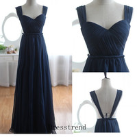 Bridesmaid Dress - Long Bridesmaid Dresses / Royal Blue Bridesmaid Dress / prom Dress / Royal Blue Prom Dress / Open Back Prom Dress