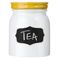 Threshold™ Stoneware Canister with Lid - Yellow (Small)