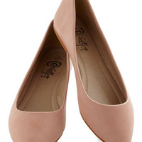 Defined the Scenes Flat in Blush | Mod Retro Vintage Flats | ModCloth.com