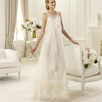Column white Lace beading 2013 Wedding Dress IWD0060 -Shop offer 2013 wedding dresses,prom dresses,party dresses for girls on sale. #Category#