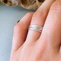 Sterling Silver Stacking Rings / boho, simple, hippie, minimalist, everyday wear