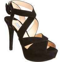 Prada Criss-Cross Effect Platform Sandal at Barneys New York at Barneys.com