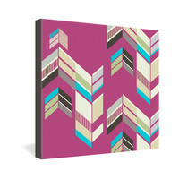 DENY Designs Home Accessories | Gabi Chevron Berry Gallery Wrapped Canvas