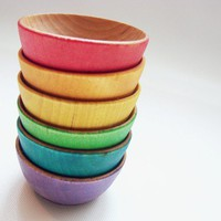Color Sorting Rainbow Bowls  Montessori and Waldorf by MamaMayI