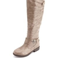 Knee-High Ankle Strap Riding Boot: Charlotte Russe