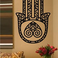 Hamsa Hand Version 101 Decal Sticker Wall Vinyl Art Blessings Power Strength