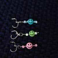 Crochet or Knit Stitch Markers - Colorful Smiles