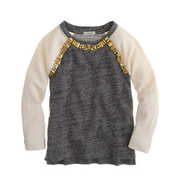 Girls' embellished baseball sweatshirt - knits & tees - Girl's new arrivals - J.Crew