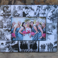 "Personalized Sister Gift, Maid of Honor Picture Frame, Custom Collage Bridesmaid Frame, Bridal Shower Gift, Parent Gift, NEW SIZE! 5"" x 7"""