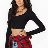 Cruel Nights Crop Top - Black