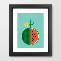 Fruit: Watermelon Framed Art Print by Christopher Dina