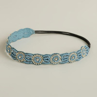 Blue Rhinestone Circles Headband | World Market