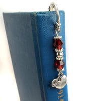 Apple Beaded Bookmark: Gift for Teacher, Book Mark