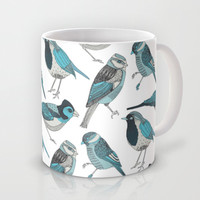 pale green birds Mug by Polkip