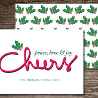Holiday Card - Instant Digital Download DIY Printable & Personalized