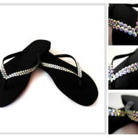 Slim Havaianas Thongs Featuring AB Swarovski Crystals