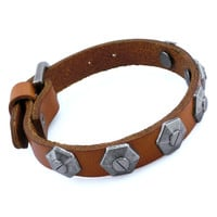 Punk Rock Leather Bracelet Couple Bracelet Women Bracelet Men Leather Bracelet Bracelet Cool Bracelet Mens Bracelet 2569S