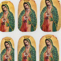 Awesome Mother's Day Gift Virgin of Guadalupe Mexican Nail Decals