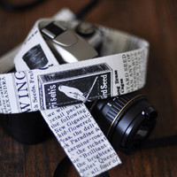 Camera Strap dSLR / SLR Farmers' Market - Cute Camera Strap for Canon / Nikon - Farm to Table - Seed Catalog
