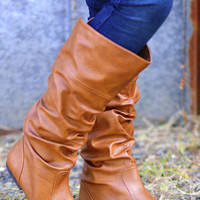 Restock: Saddle Up Boots: Cognac | Hope's
