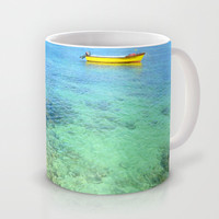 Exotic Blue Lagoon Indian Ocean Coral Reef Seascape Mug by Bluedarkat Lem