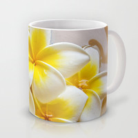 Plumeria Blossoms Mug by Around the Island (Robin Epstein)