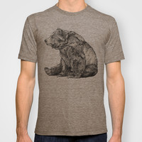Bear // Graphite T-shirt by Sandra Dieckmann