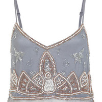Embellished Cami Crop Top - Tops  - Apparel