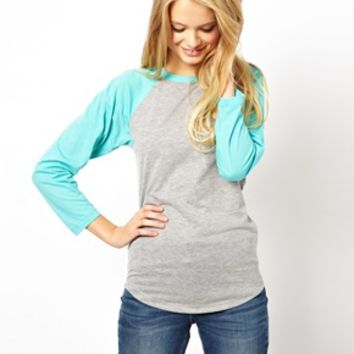 ASOS Color Block Baseball Top