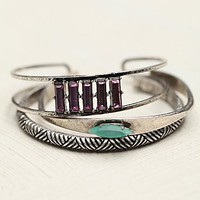 Mixed Jeweled Bangle Set
