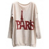 RABBIT FUR LONG KNITTED SWEATER TOWER Beige
