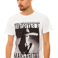 Vanguard Tee Senoritas & Margaritas in White