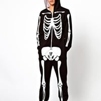 ASOS Onesuit With Skeleton Print
