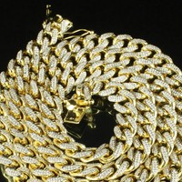 14k Gold Finish Custom Miami Cuban Link