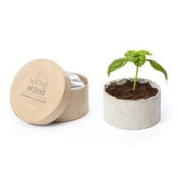DIY ROUND SWEET BASIL PLANTER KIT