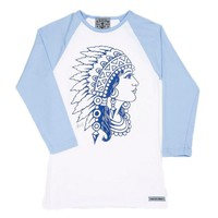 Sailor Jerry Indian Head Raglan Dames T-shirts at Broken Cherry