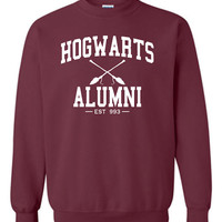 Hogwarts Alumni Crewneck Sweatshirt Printed Sweatshirt Mens Womens Ladies Unisex Funny Harry Potter Wizard Magical ML-006W2