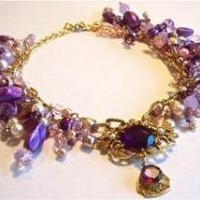 Chunky Vintage Choker - Purple Power! by dabchickvintage on Sense of Fashion